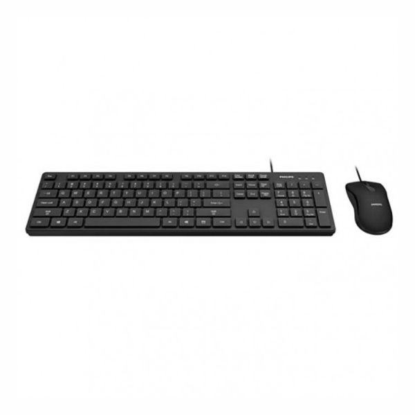 Combo Teclado Mouse Usb Com Fio Wired Spt6201b Philips