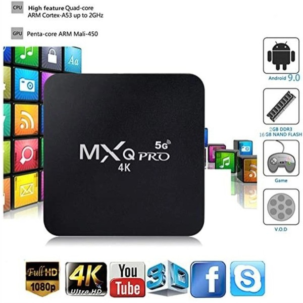 Conversor Tv Box Smart 4k 10.0 4+64gb - Mx Q Pro