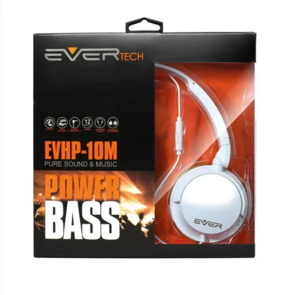 Headphone Dj P2 Evertech Branco Evhp-10-wt Flex