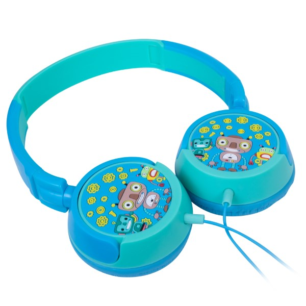 Headphone Infantil Kids Robôs Azul E Azul Claro Hp305 Oex