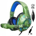Headset Gamer P3 Usb Px-2 Tecdrive - Space Camuflado Azul