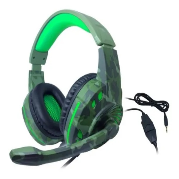 Headset Gamer P3 Usb Px-2 Tecdrive - Space Camuflado Verde